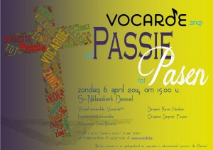 affiche Vocarde zingt vol Passie tot Pasen