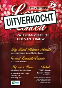 Late Valentine Lover Feast Concert flyer UITVERKOCHT